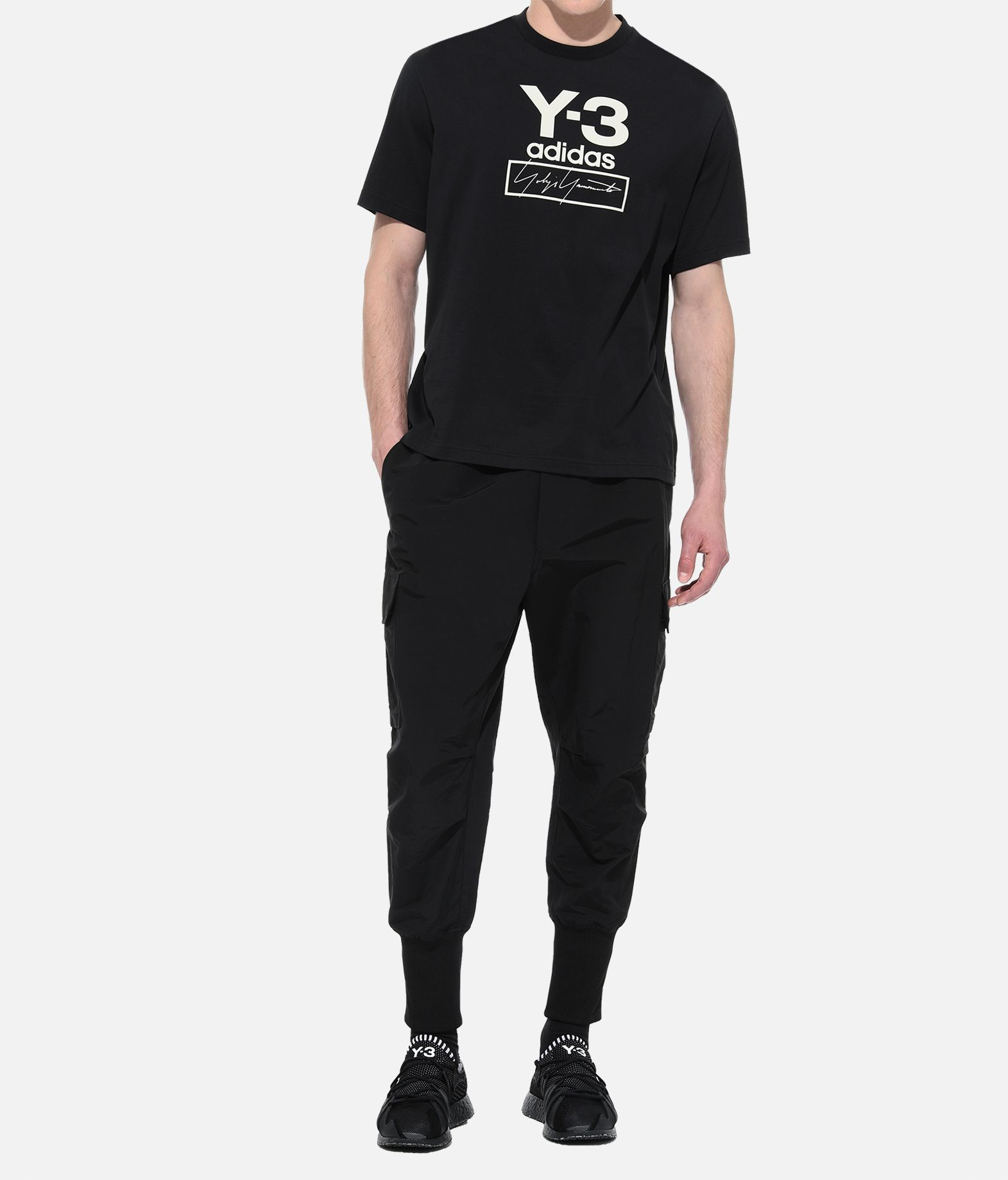 Y-3 Y-3 Stacked Logo Tee Short sleeve t-shirt Man a
