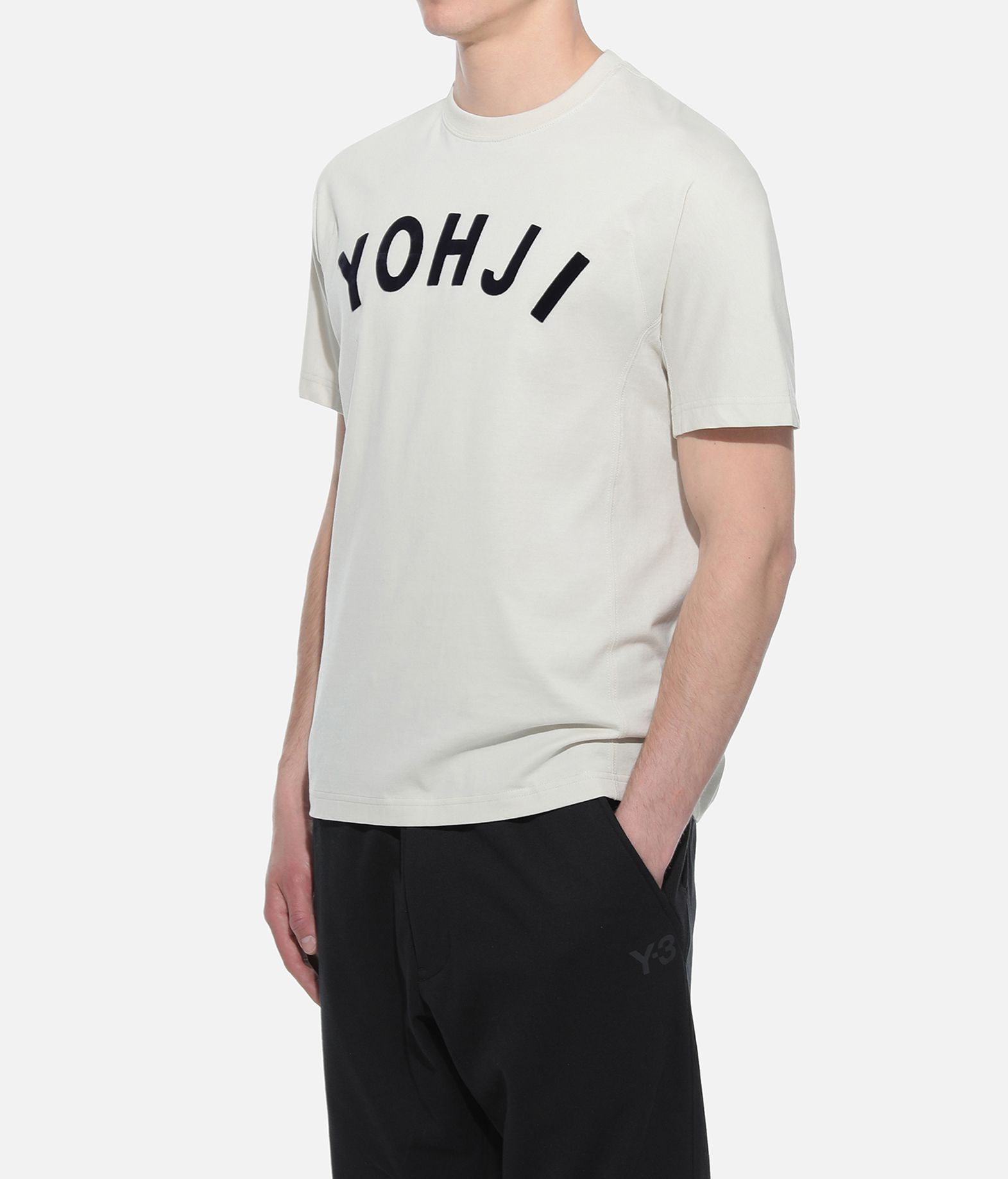 Y-3 Y-3 Yohji Letters Tee Short sleeve t-shirt Man e