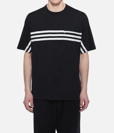 Y-3 T シャツ メンズ Y-3 3-Stripes Packable Tee r