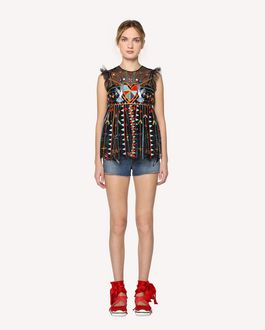 REDValentino Love Celebration embroidered top