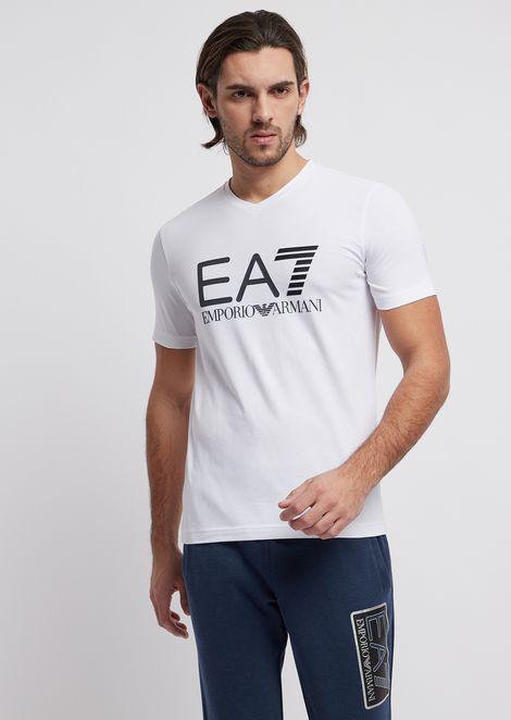 T-shirt en coton stretch avec logo imprimé Train Logo