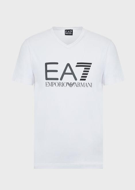 Stretch cotton Train Logo T-shirt with logo print