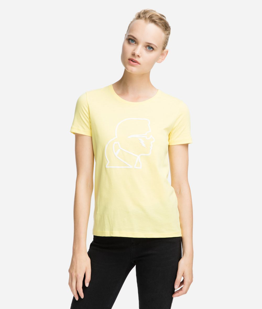 KARL LAGERFELD T-shirt griffé néon T-shirt Femme f