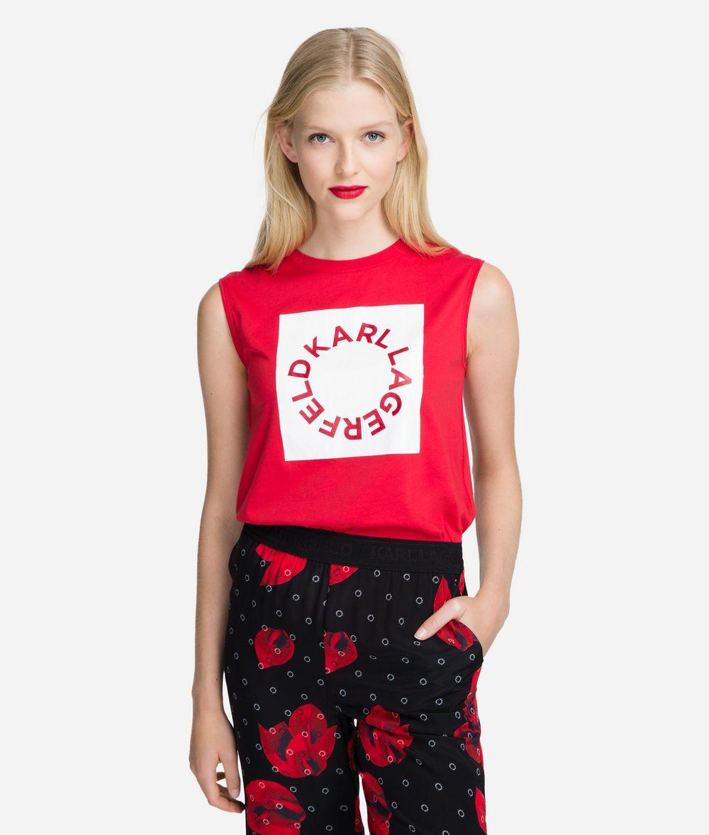 KARL LAGERFELD Circle Logo Tank Tank Woman f