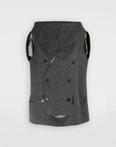 MAISON MARGIELA Top [*** pickupInStoreShipping_info ***] Tailored skirt cape top f