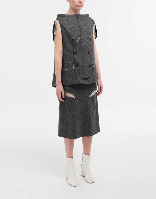 MAISON MARGIELA Tailored skirt cape top Top [*** pickupInStoreShipping_info ***] d