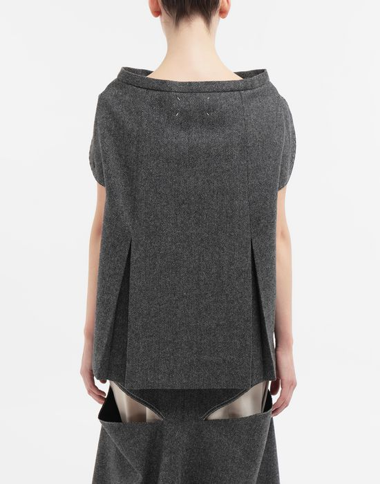 MAISON MARGIELA Tailored skirt cape top Top [*** pickupInStoreShipping_info ***] e