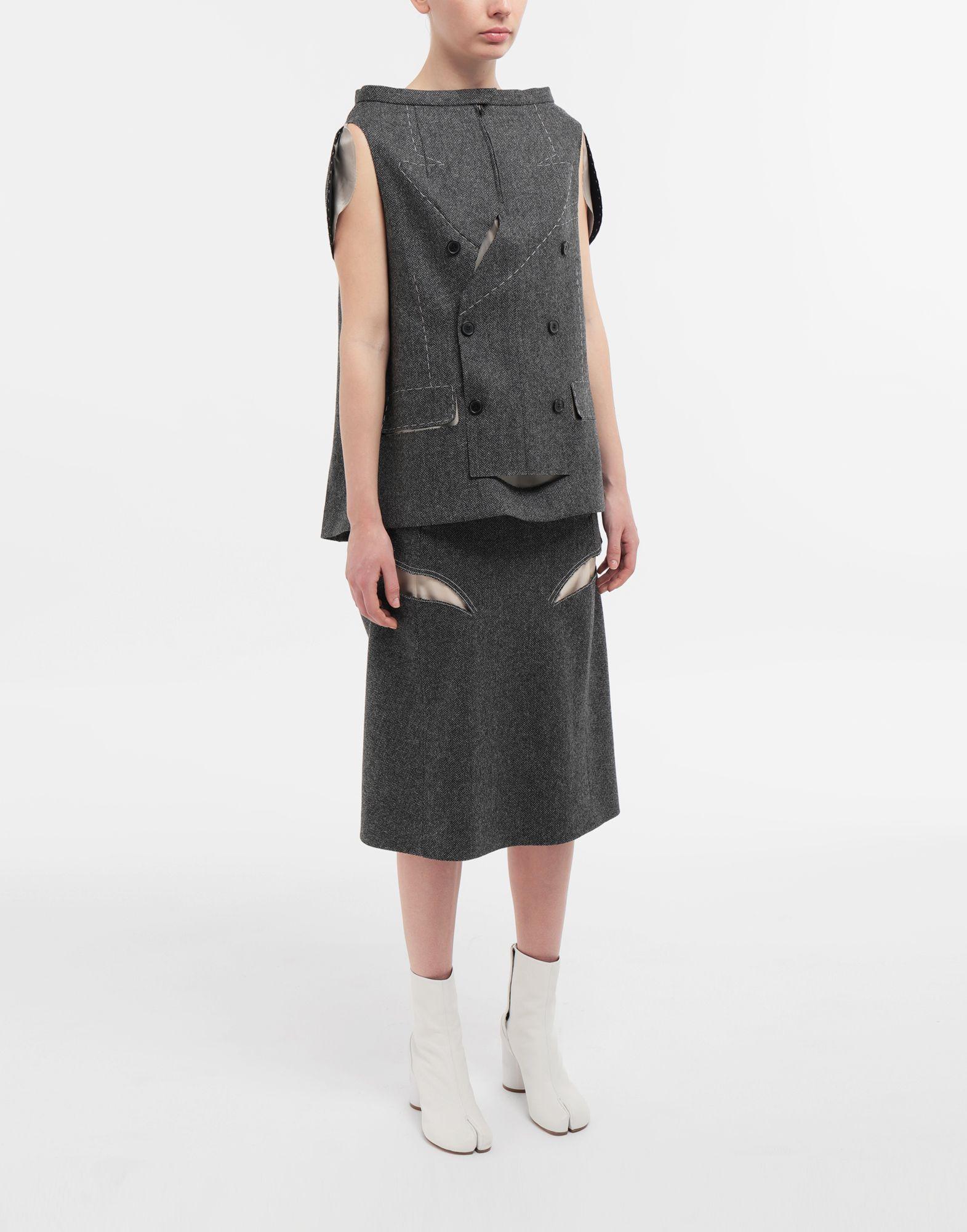 MAISON MARGIELA Tailored skirt cape top Top Woman d