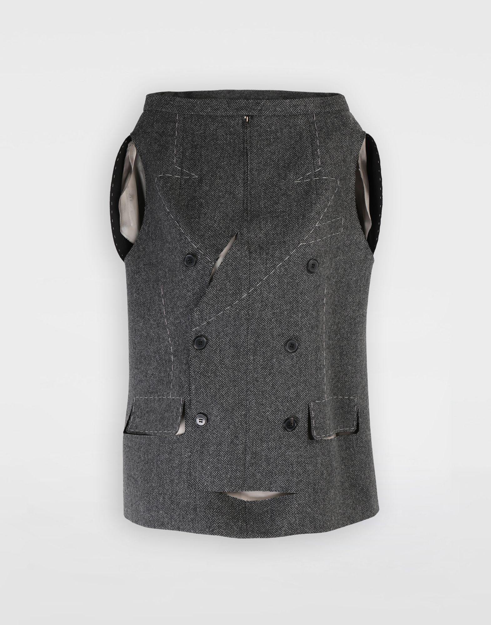 MAISON MARGIELA Tailored skirt cape top Top Woman f