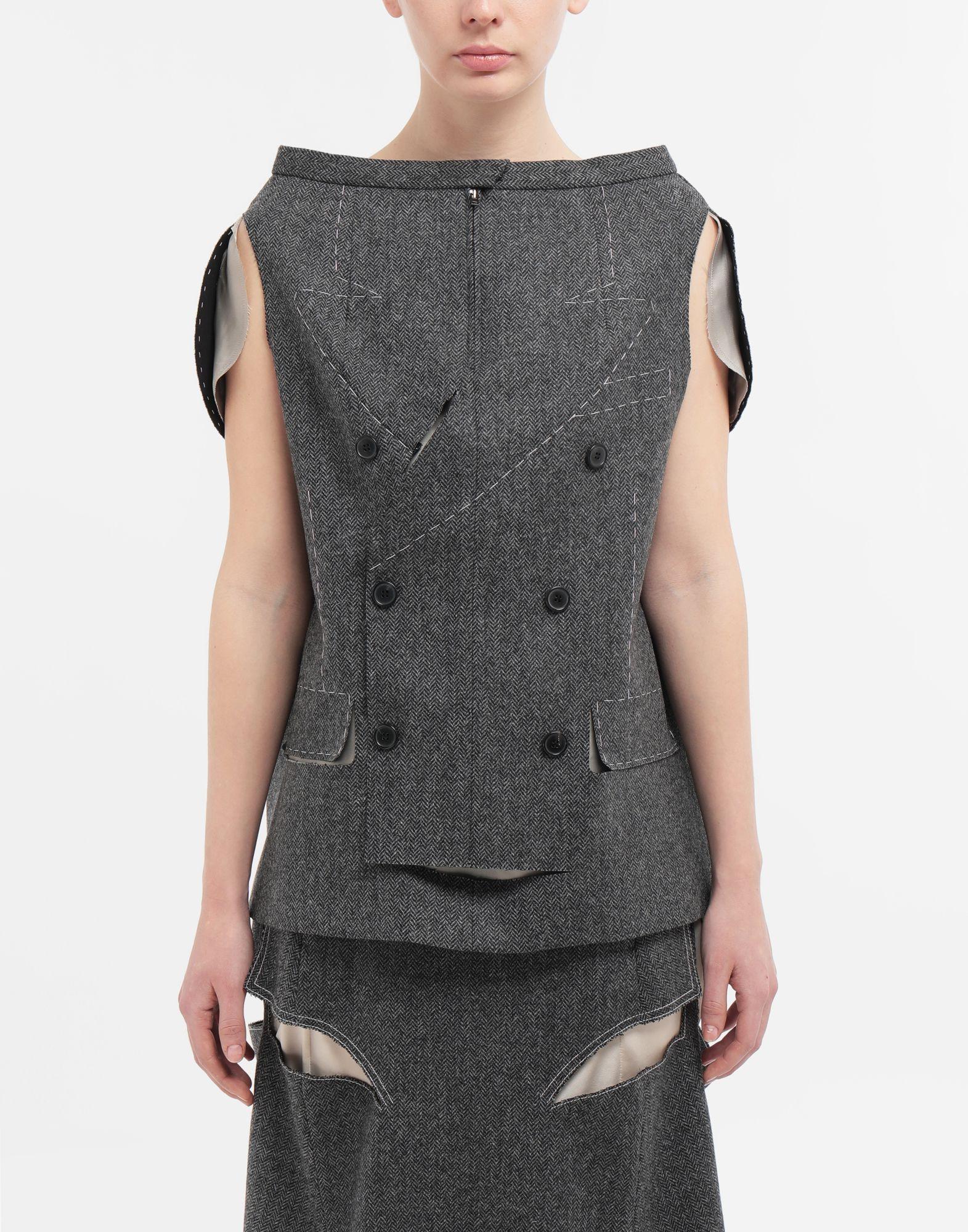MAISON MARGIELA Tailored skirt cape top Top Woman r
