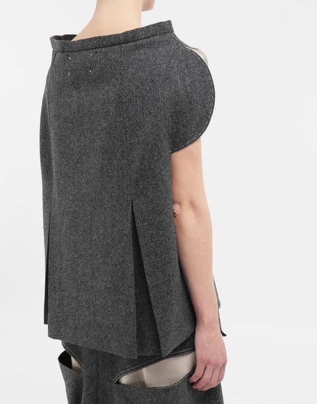 MAISON MARGIELA Tailored skirt cape top Top Woman b