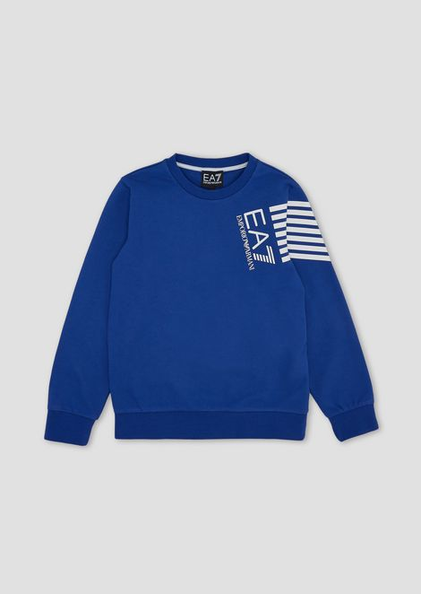 Boys' crew-neck cotton sweatshirt
