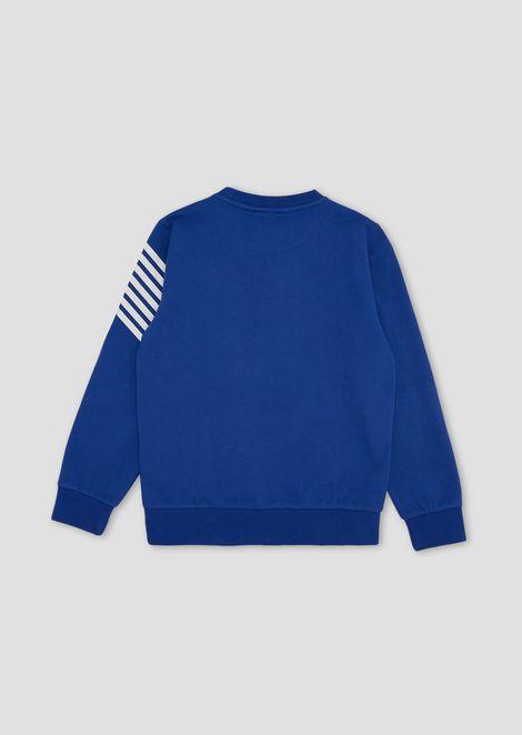 Boys' crew-neck cotton sweatshirt