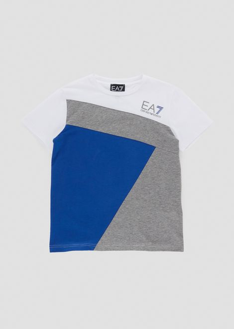 Boys' colour block jersey T-shirt