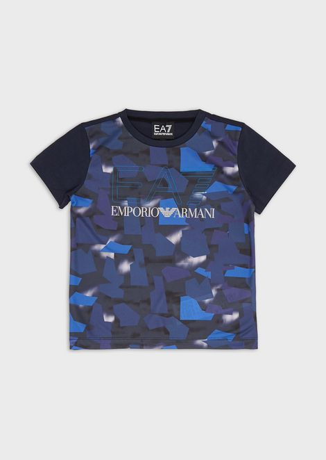 T-shirt pour enfant en jersey camouflage