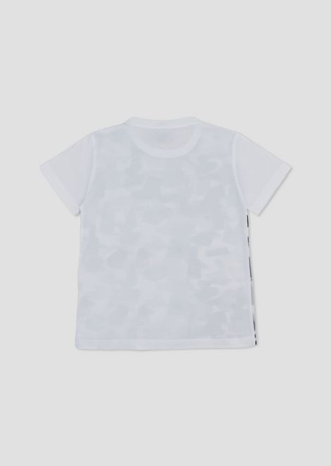 Camiseta para niño de punto con fantasía camuflaje