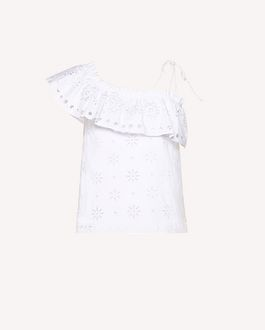 REDValentino Sangallo embroidered cotton voile top