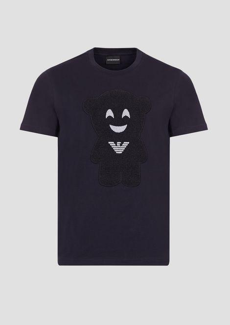 T-shirt Manga bear in puro cotone
