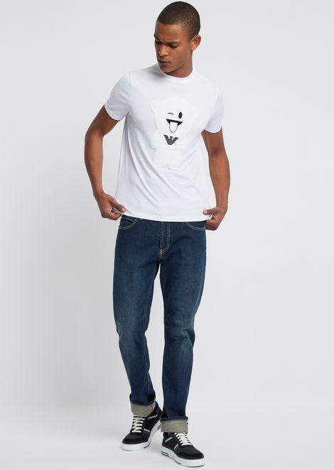 T-shirt Manga Bear en pur coton