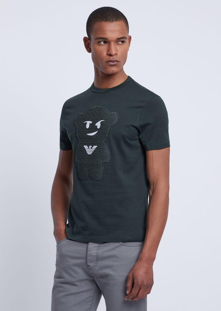 algodón Camiseta puro en manga oso HeW9YbD2EI