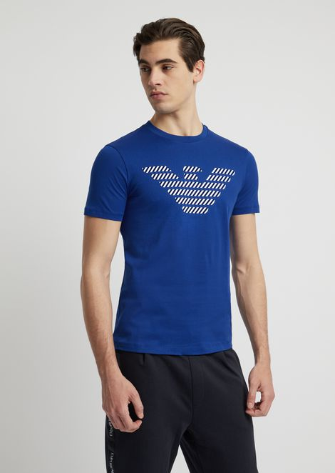 Cotton T-shirt with logo print