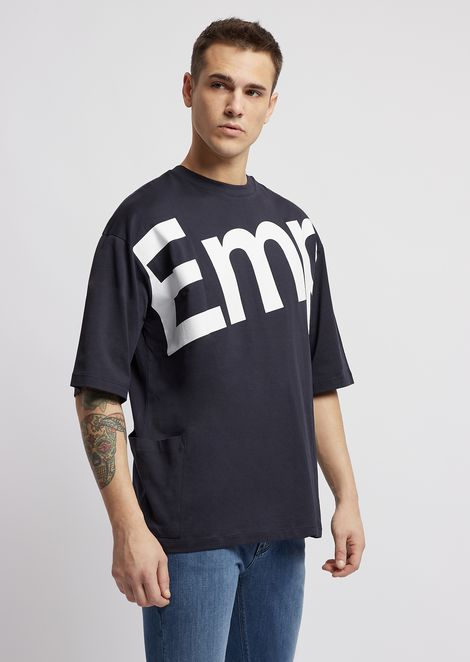 Cotton T-shirt with logo print