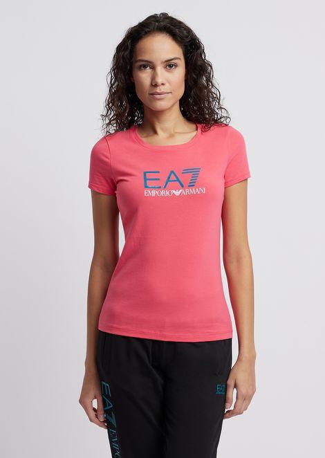 Tシャツ コットン&ポリエステル製 EA8ロゴプリント入り