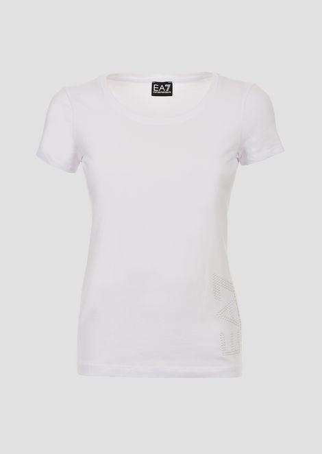 Tシャツ ストレッチジャージー製 ロゴ