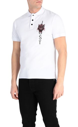 JUST CAVALLI Short sleeve t-shirt Man T-shirt with garden-check print f