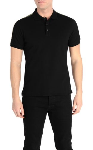 Polo shirt with logoed-band detail