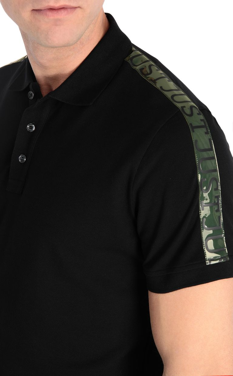 JUST CAVALLI Polo shirt with logoed-band detail Polo shirt Man e