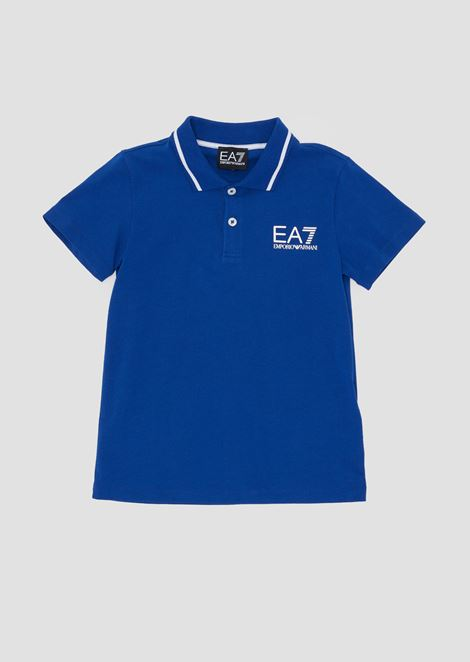Boys' cotton piqué polo shirt