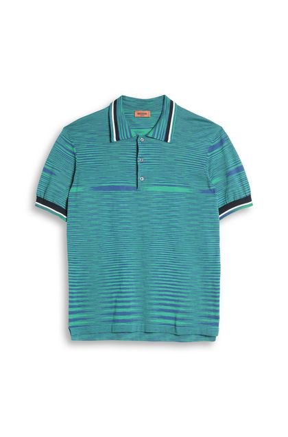 MISSONI Men's polo Green Man - Back
