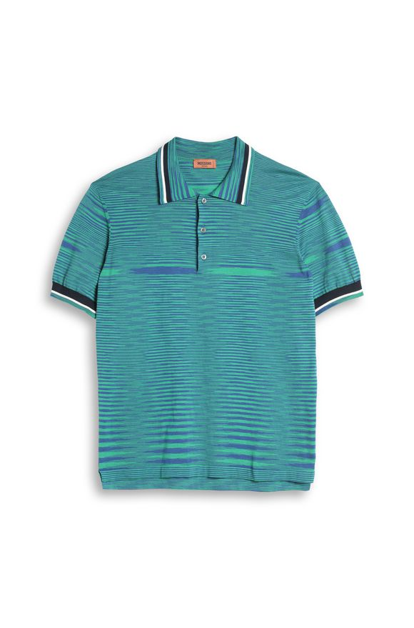 MISSONI Men's polo Green Man