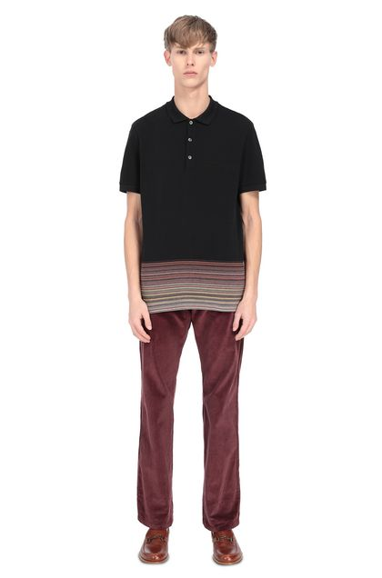 MISSONI Men's polo Black Man - Front