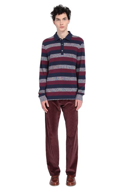 MISSONI Men's polo Purple Man - Front