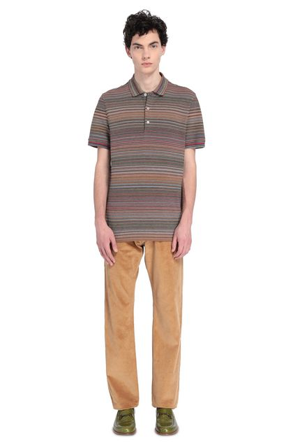 MISSONI Men's polo Brown Man - Front