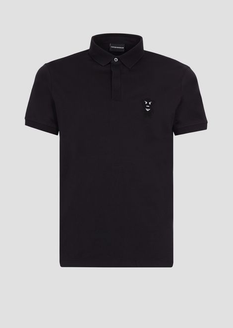 Polo shirt with Manga Bear patch