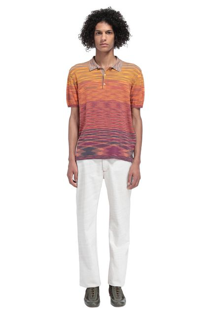MISSONI Men's polo Orange Man - Front