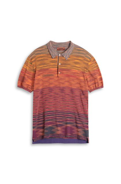 MISSONI Men's polo Orange Man - Back
