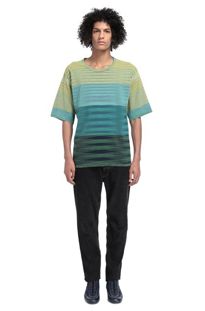MISSONI Men's T-Shirts Acid green Man - Front