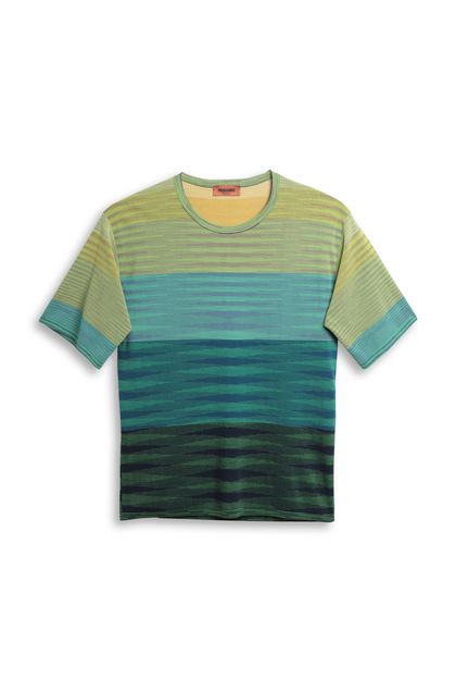 MISSONI Men's T-Shirts Acid green Man - Back