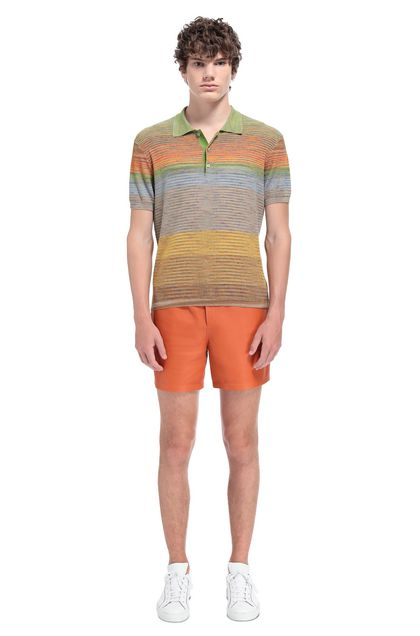 MISSONI Men's polo Light green Man - Front