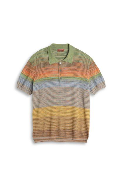 MISSONI Men's polo Light green Man - Back