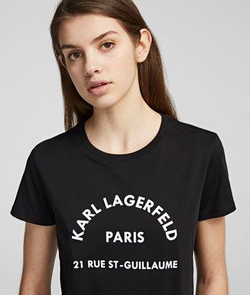 "KARL LAGERFELD T-SHIRT MIT ""RUELAGERFELD""-LOGO"