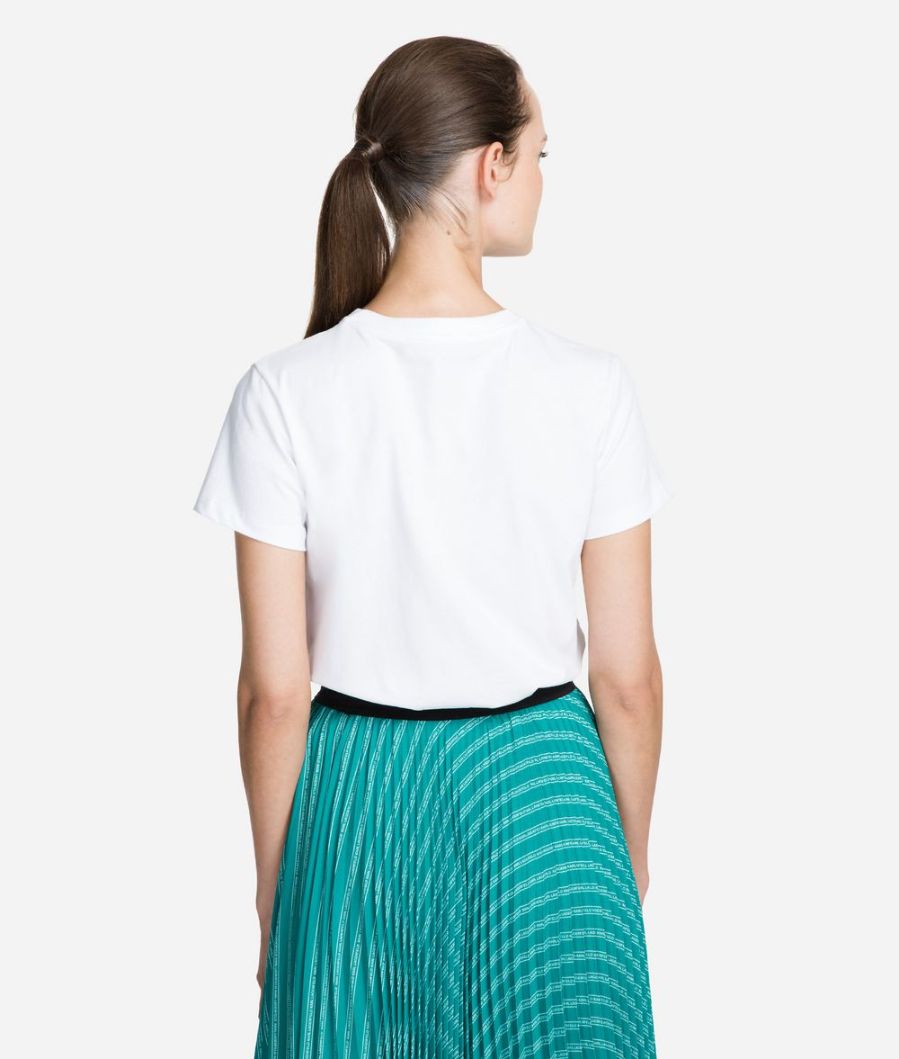 KARL LAGERFELD Circle Logo T-Shirt T-shirt Woman d