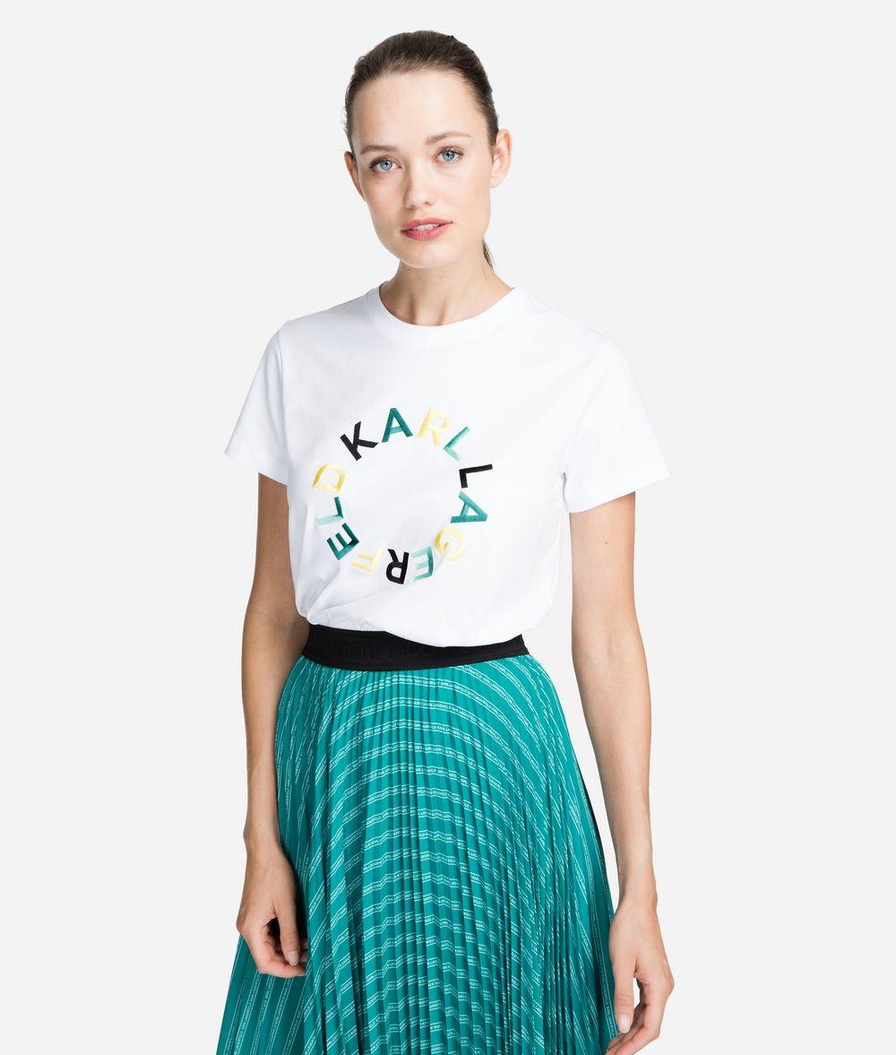 KARL LAGERFELD Circle Logo T-Shirt T-shirt Woman f