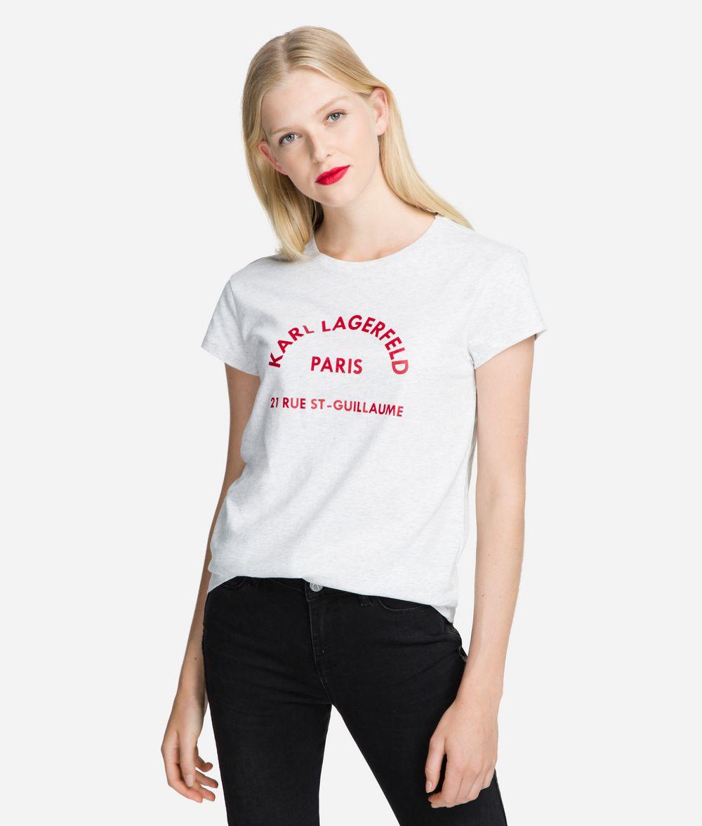 KARL LAGERFELD Rue Lagerfeld Logo T-Shirt T-shirt Woman f