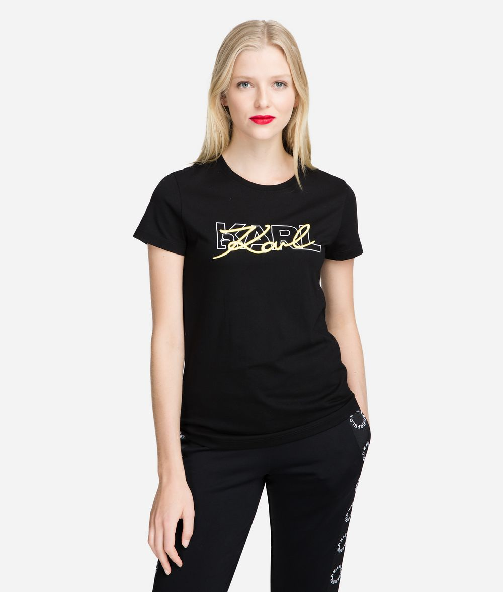 KARL LAGERFELD Double Logo T-Shirt T-shirt Woman f