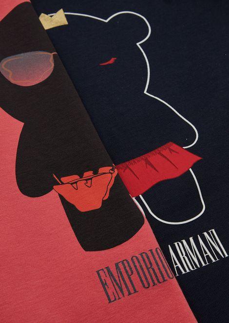 Conjunto de dos camisetas con estampados Manga Bear